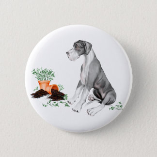 Great Dane Naughty Pup Mantle UC Button
