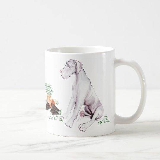 Great Dane Naughty Pup White UC Coffee Mug
