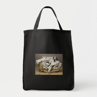 Great Dane on Chewed Sofa Canvas Bag
