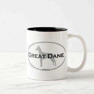 Great Dane Oval Two-Tone Coffee Mug