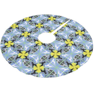 great dane pattern brushed polyester tree skirt