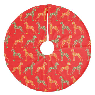 great dane pattern fleece tree skirt