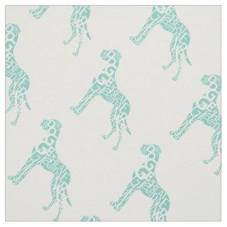 Great Dane patterntypo Fabric