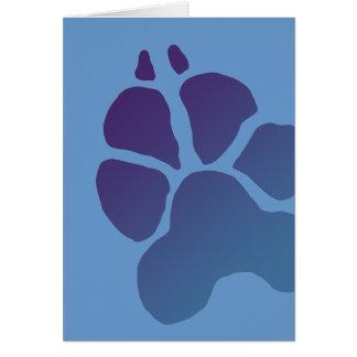 Great Dane Paw Print Greeting Card