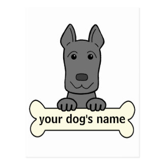 Great dane personalizado postales