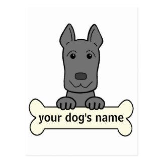 Great dane personalizado tarjeta postal
