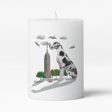 Beach Themed Great Dane Pillar Candle