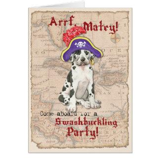 Great Dane Pirate Card