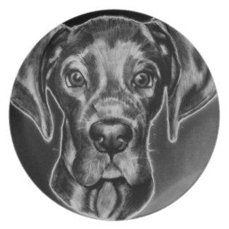 Great Dane Plate with Original Artwork