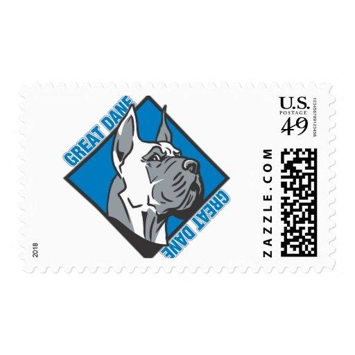 Great Dane Postage Stamp