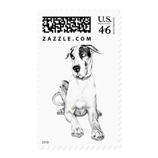 Great Dane Pouting Harlequin Stamps