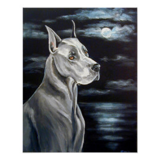 Great Dane Print - Blue Dane