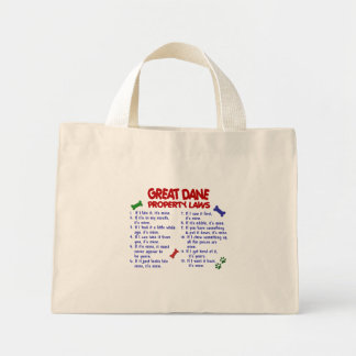 GREAT DANE Property Laws 2 Canvas Bags
