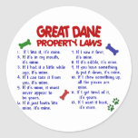 GREAT DANE Property Laws 2 Stickers