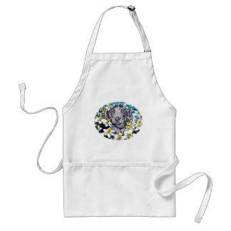 Great Dane Pup in Daffodils Merle Adult Apron