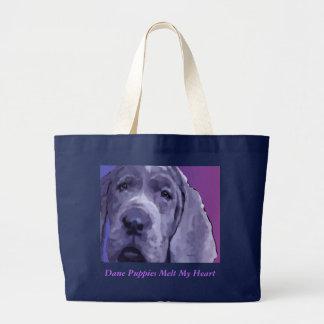 Great Dane Puppy Face Tote Jumbo Tote Bag