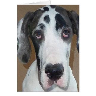 Great Dane Puppy Gunner's Goofy Face Card
