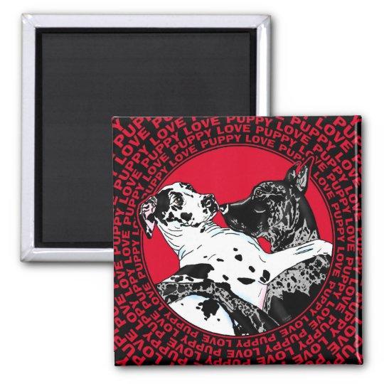 Great Dane Puppy Love Magnet