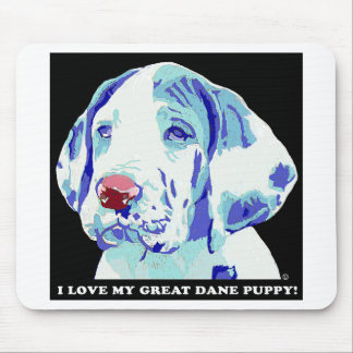 Great Dane Puppy Love Mouse Pad