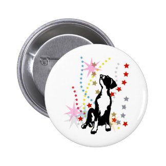 Great Dane Puppy with stars Pinback Button