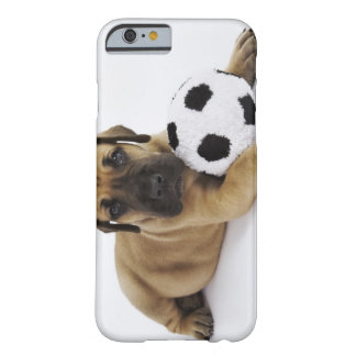Great Dane puppy with toy soccer ball Barely There iPhone 6 Case