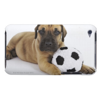 Great Dane puppy with toy soccer ball Barely There iPod Cover