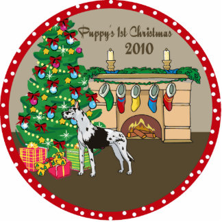 Great Dane Puppy's 1st Christmas Ornament 2010