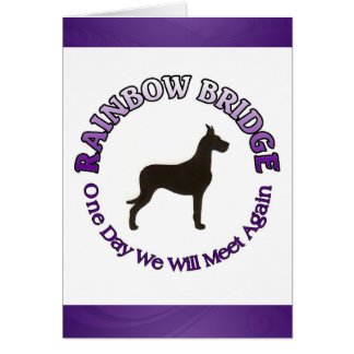GREAT DANE RAINBOW BRIDGE SYMPATHY CARD