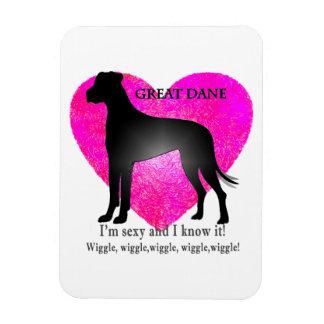 Great Dane Rectangular Photo Magnet