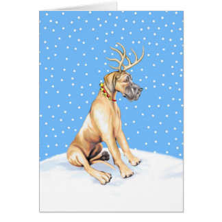 Great Dane Reindeer Christmas Fawn UC Cards