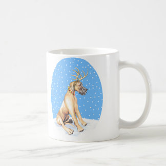 Great Dane Reindeer Christmas Fawn UC Coffee Mug