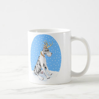 Great Dane Reindeer Christmas Harlequin Mug
