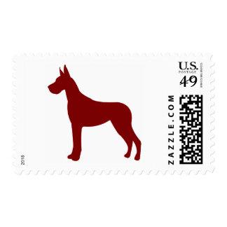 Great dane (rojo) sellos
