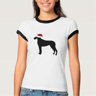 Great Dane Santa Hat Tee Shirts