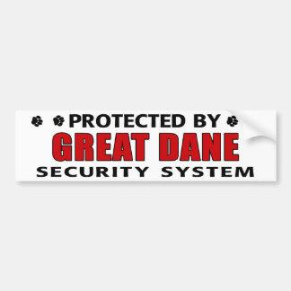 Great Dane Security Bumper Sticker