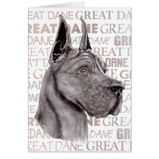Great Dane Show Colors Black Card