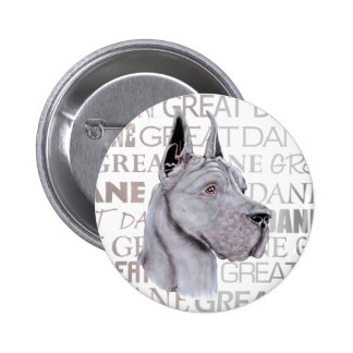 Great Dane Show Colors Blue 2 Inch Round Button