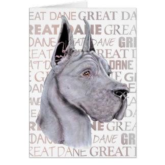 Great Dane Show Colors Blue Card