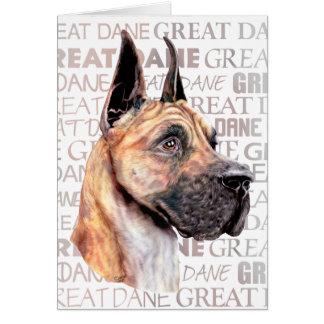 Great Dane Show Colors Brindle Card