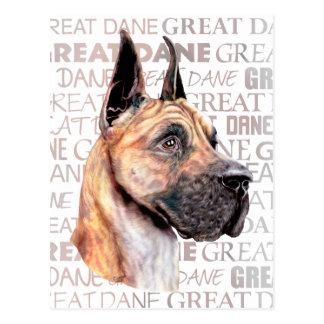 Great Dane Show Colors Brindle Postcard