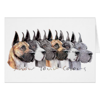 Great Dane Show Colors Group Card
