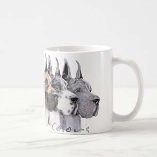 Great Dane Show Colors Group Classic White Coffee Mug