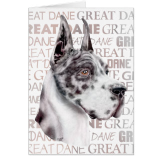 Great Dane Show Colors Harlequin Card