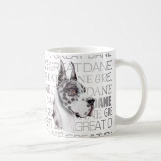 Great Dane Show Colors Harlequin Coffee Mug