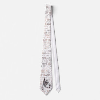 Great Dane Show Colors Harlequin Tie