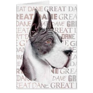 Great Dane Show Colors Mantle Card