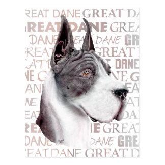 Great Dane Show Colors Mantle Postcard