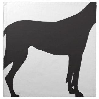 Great Dane Silhouette Cloth Napkin