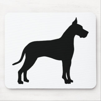 Great Dane Silhouette Mouse Pad