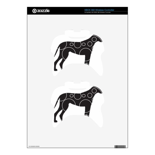Great Dane Silhouette Xbox 360 Controller Decal